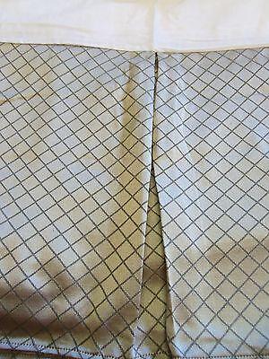 "Dan River's Taupe ""Dubonnet"" Tailored King Bed Skirt 15"":Classic Diamond Pattern"