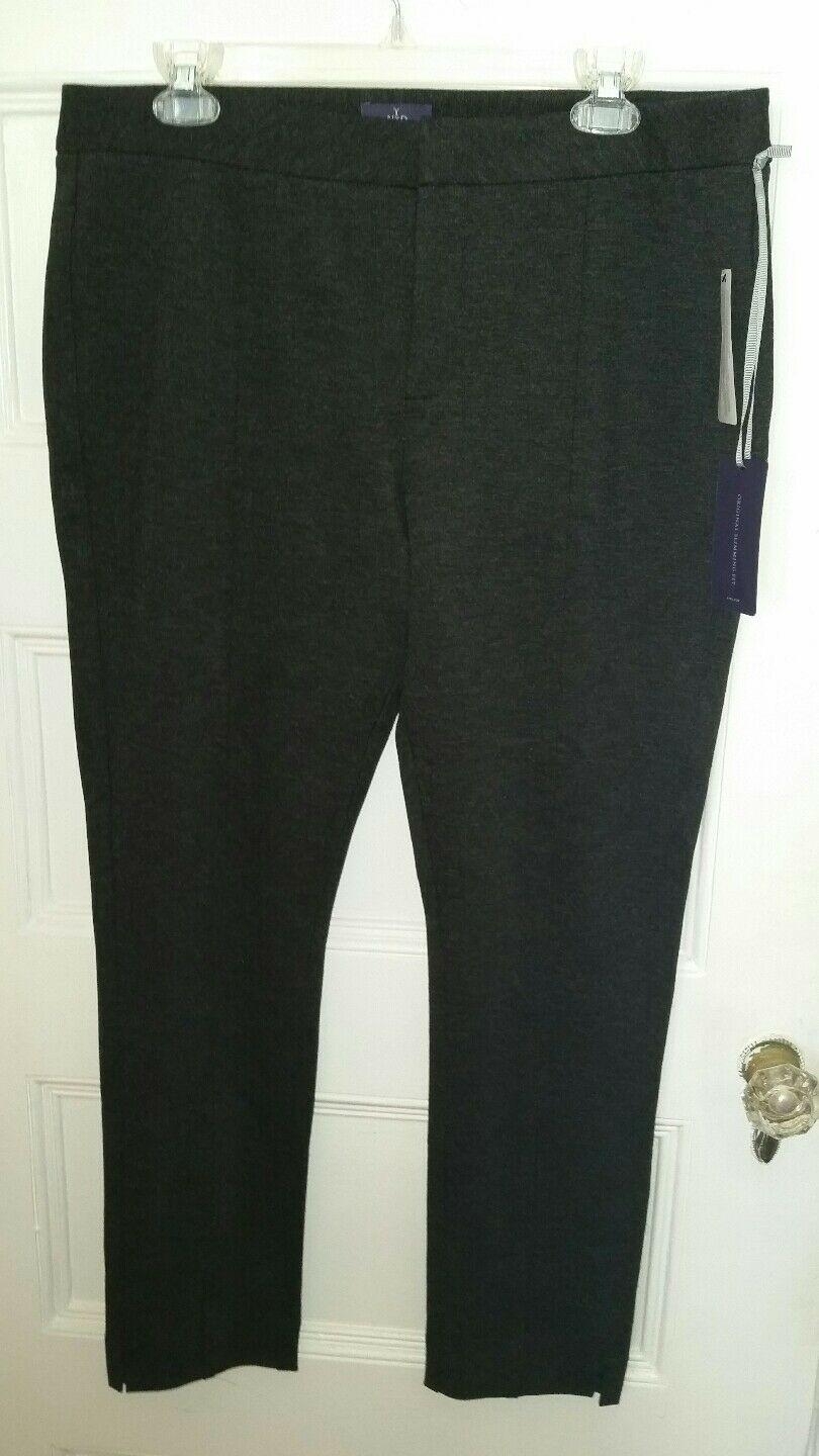 NWT Not Your Daughter's Jeans NYDJ Betty Stretch Charcoal Ankle Pants Size 12