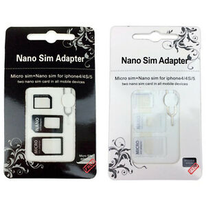 Nano Sim Card Adapter Tray Kit for iPhone