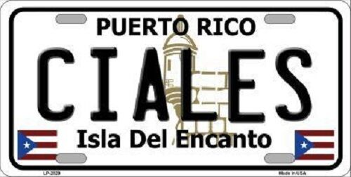 Ciales Puerto Rico Metal Novelty License Plate