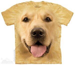 New-The-Mountain-Big-Face-Golden-Retriever-T-Shirt