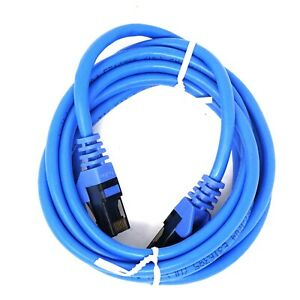 Cavo-Cat6-Ethernet-2m-rete-computer-notebook-laptop-RJ45-M-M-Belkin-AZZURRO
