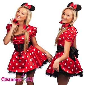 Underskirt Adults Womens Minnie Mouse Girl Costume Fancy Dress Outfit