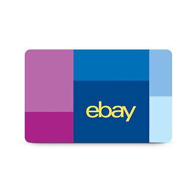 eBay Physical Gift Card $25 to $200 - FREE 1st Class Mail Delivery