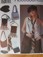 Sewing Pattern 5308 Purse Hand Bag Fringe Shoulder Bag Hat Cap Cd Case Tie Uncut
