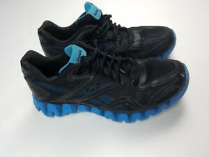 65f58900e69 Image is loading Reebok-Mens-Black-Zigtech-Sneakers-Size-6-1-