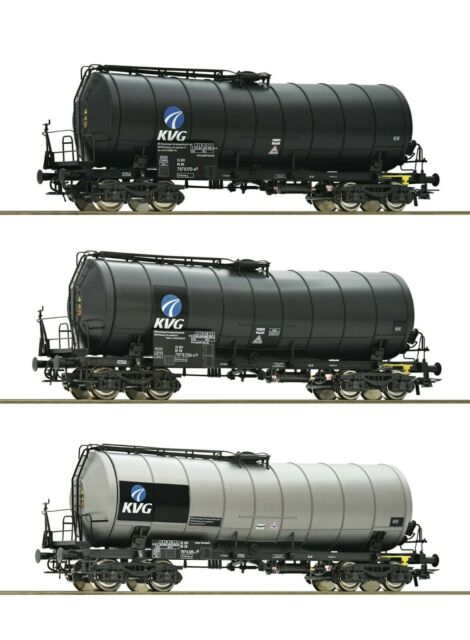 "Roco HO 76156 3 piece set slurry wagons ""KVG"", DB-AG"