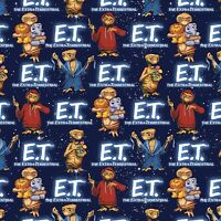 Universal E.t. With Animals 100% Cotton 43 Fabric By The Yard