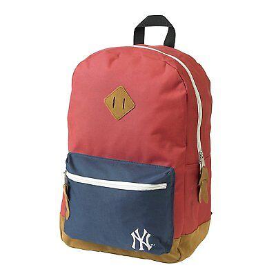 Ufficiale New York Yankees Ny Rosso E Blu Scuro Scuola Zaino Zaino-mostra Il Titolo Originale