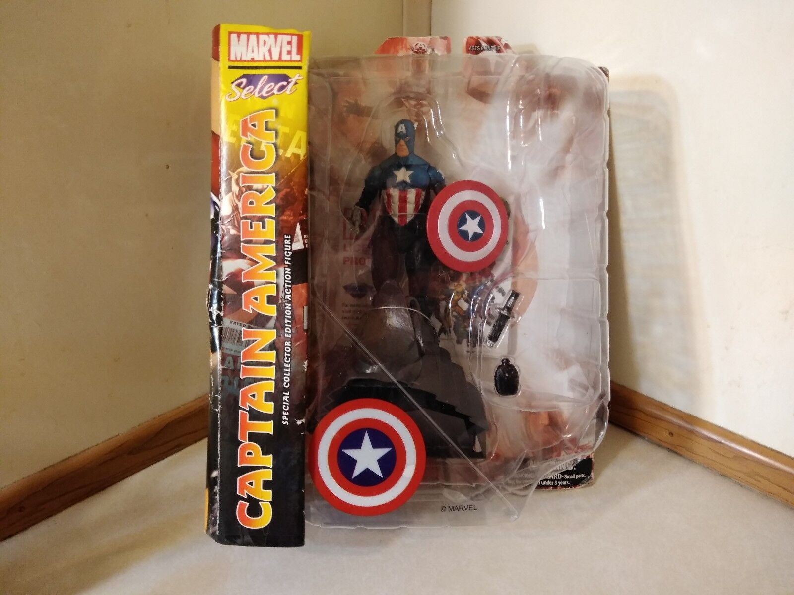 Marvel Select Captain America Special Collectors Editio7 Inch Figure NEW Sealed.