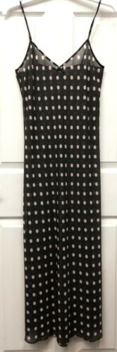 LADIES QUALITY LONG SHEER CHIFFON CAMI//NIGHT DRESS SLIP UK SIZE 10