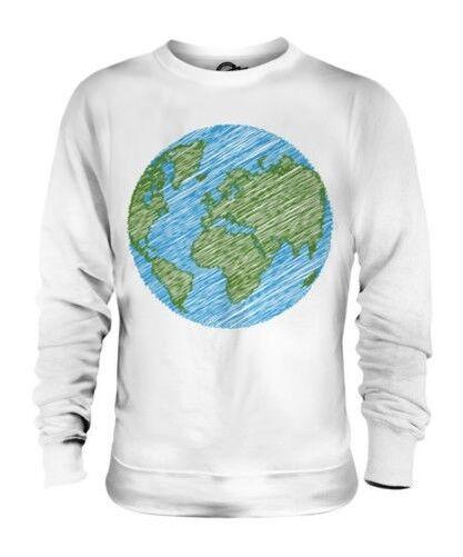Gribouillé Earth Unisexe Pull Cadeau Paix Planète