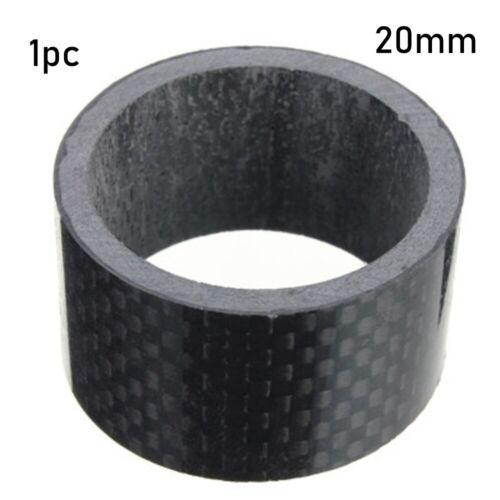 "28mm 1 1//8/"" Carbon Fiber Washer Spacers Kit Bike Fix Refit Headset Stem Washers"