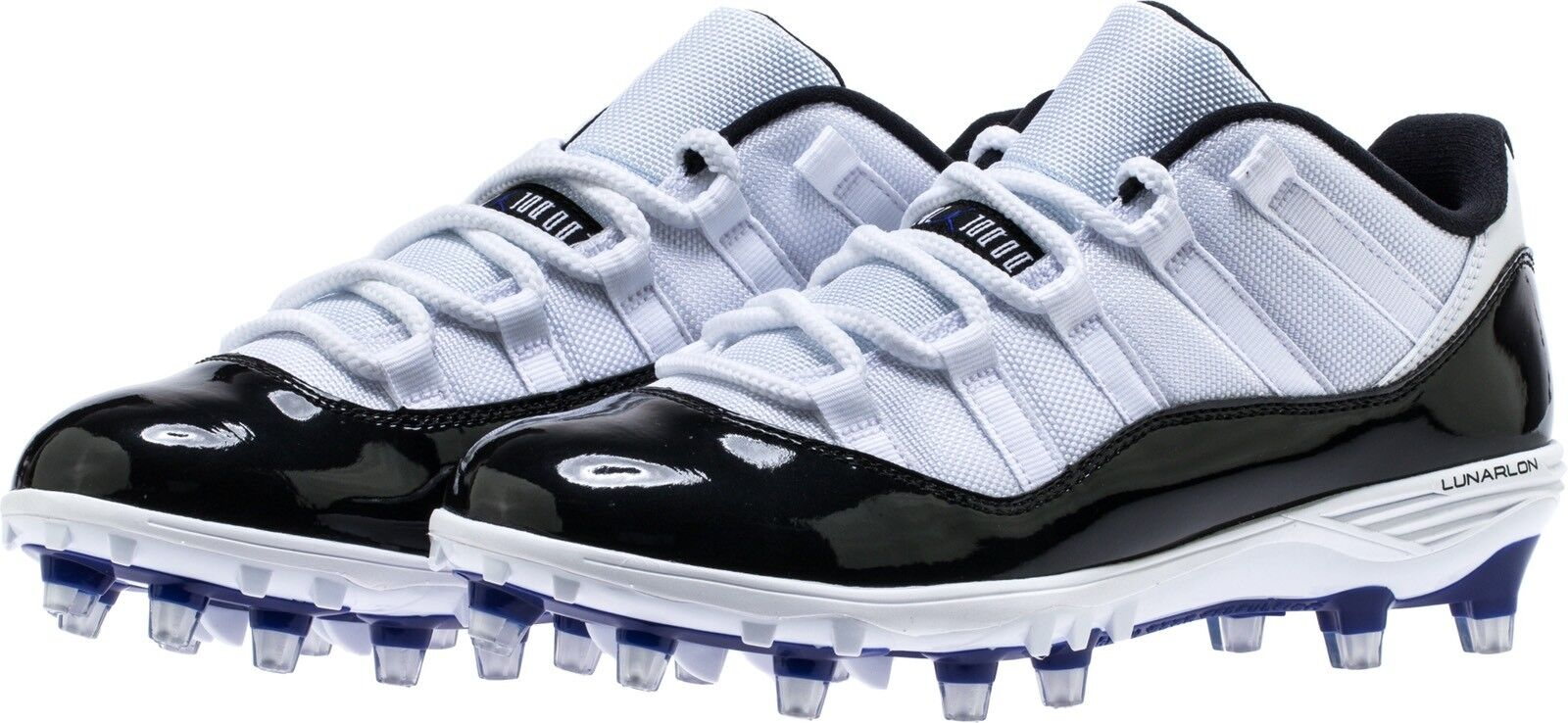 Jordan XI Retro TD Low Concord Size 10.5 Football Cleats Spikes 11 White Black