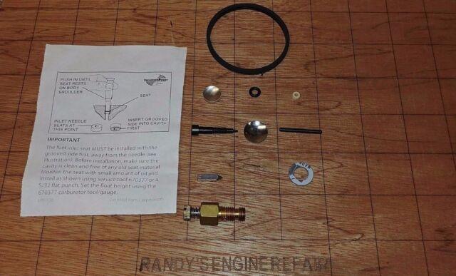 632347 Craftsman 8 /& 10 HP Snow Carburetor Overhaul Rebuild Kit