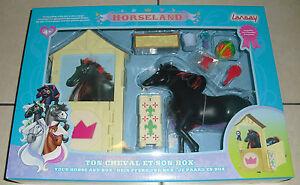 Horseland Cheval Scarlet + son Box  noir rouge jouet LANSAY 12057  SCARLET NEUF