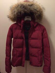 buy online e367e ade92 Dettagli su Giacca WOOLRICH piumino con pelliccia Donna Rosso Taglia S