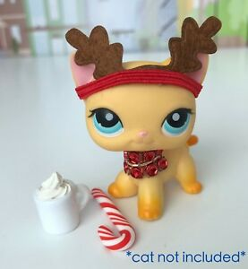 Littlest Pet Shop Accessories Lps Clothes Lot Reindeer Cat Dog