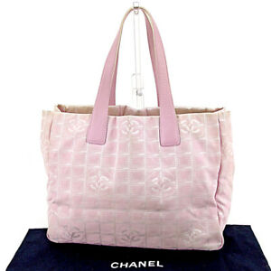 1d83dc1eabcd Chanel Tote bag New travel line Pink Gold Woman Authentic Used T4487 ...