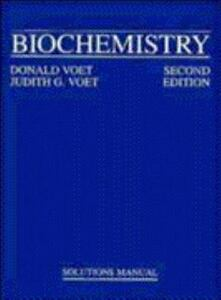 biochemistry solutions manual by judith g voet and donald voet rh ebay com Biochemistry Textbook Fundamentals of Biochemistry Voet PDF