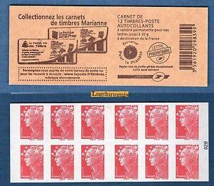 Carnet-4197-C21-Type-Marianne-de-Beaujard-TVP-rouge-N-4197-NEUF