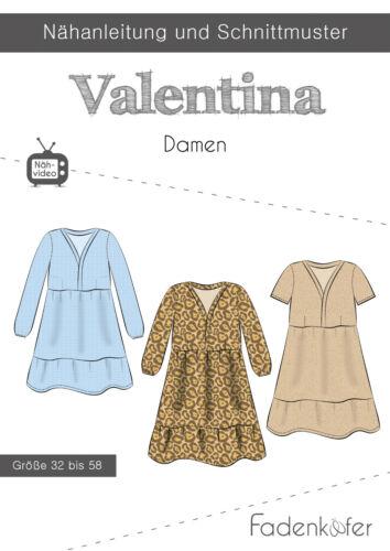 PAPIER motifs de coupe fil Coccinelle Robe Valentina Femmes Taille 32-58 Nº 1000092