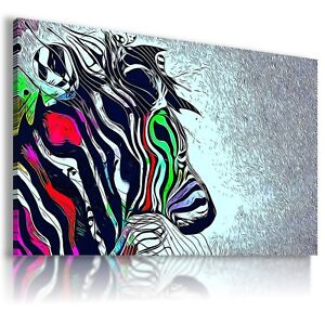 ZEBRA-Wild-Animals-Canvas-Wall-Art-Abstract-Picture-Large-AB324-MATAGA