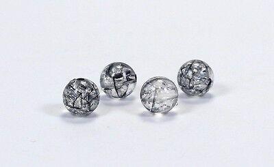 20 Acryl Crackle Crack Crash Perlen Perle Rund 10mm Farbauswahl