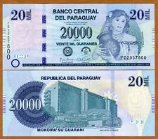 Paraguay, 20,000 (20000) Guaranies 2015 Pick New Redesigned UNC