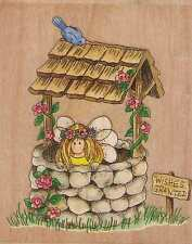 Motivo timbro STAMPS Happen Elfo figlio dei fiori fontana giardino Lilly Pilly