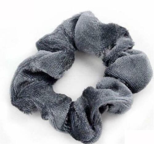 Girls Velvet Scrunchies Hair Ring Elastic Stretch Hair tie Ponytail Holder CA rr