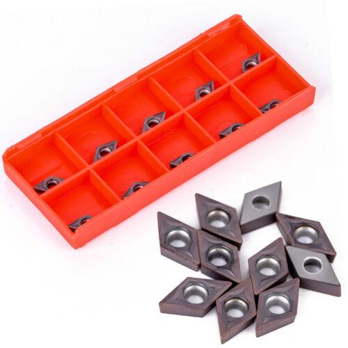 10pcs DCMT0702 YBC205 Carbide Blades Inserts for Lathe Turning Boring Tool