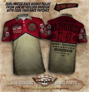 RETRO-AGED-SUBLIMATED-HOLDEN-POLO-SHIRT-BATHURST-POLO-NINE-HOLDEN-VICTORIES