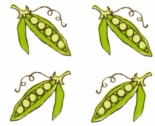 ~ Reflections Sugar Peas Pea Gold Highlights Vegetable Mrs Grossman Stickers ~