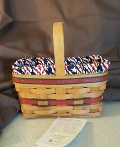 Longaberger-1994-ALL-AMERICAN-CANDLE-BASKET-11134-With-Liner-amp-Protector