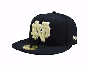 New Era 59Fifty NCAA Cap Notre Dame Fighting Irish Navy Blue Fitted ... 5422a158802