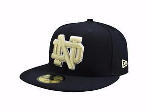 b08e80f22e4 New Era 59Fifty NCAA Cap Notre Dame Fighting Irish Navy Blue Fitted ...