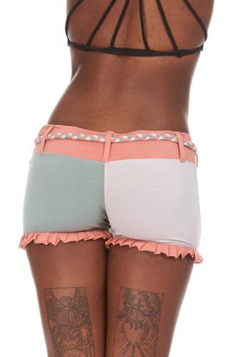 Pantaloncini di cotone organico Yoga Booty Shorts Festival Rave EDM Psy Trance Clothing