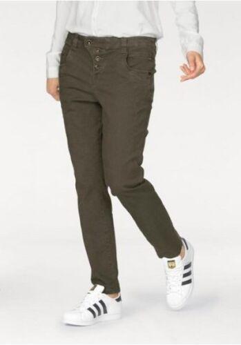 Tom Tailor Lynn Jeans NEU Damen Anti Fit Hose Khaki Stretch Denim W25-W29 L32