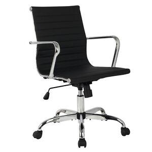 Modern PU Leather Ergonomic Mid Back fice Chair