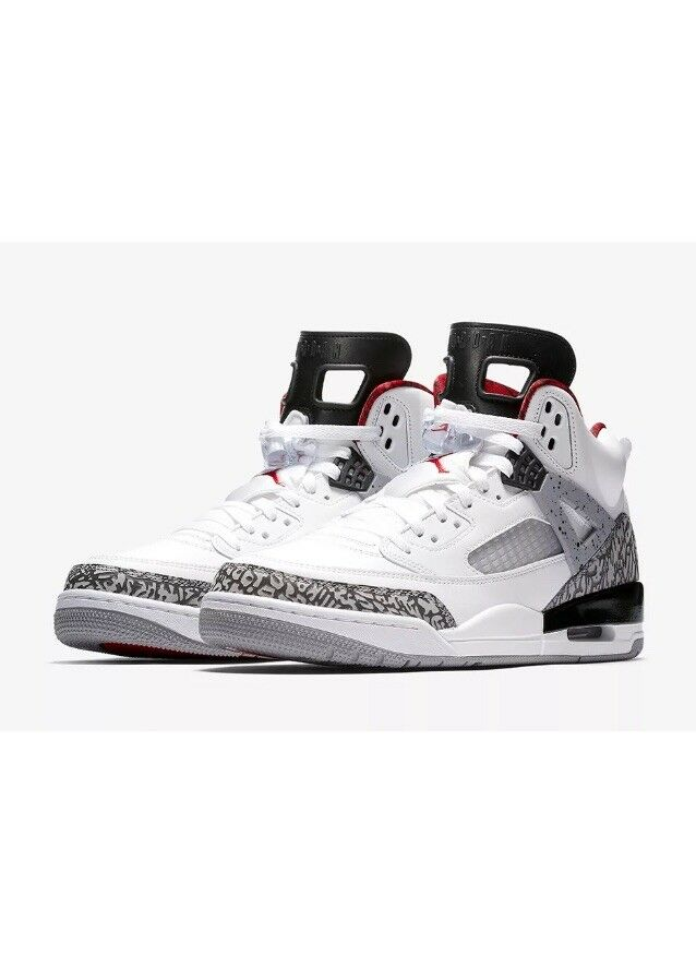Nike Air Jordan Spizike Basketball Sneakers White Cement 315371-122 Men's Size 9