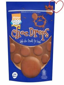 Choc-Dog-Drops-Treats-Good-Boy-Training-Buttons-Chocolate-Safe