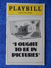I Ought To Be In Pictures - Eugene O'Neill Playbill w/Tickets - June 1980