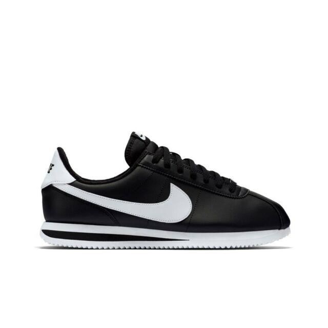 newest 3e96f 6a0f3 Nike Classic Cortez Leather (Black/White-Metallic Silver) Men's Shoes  819719-012