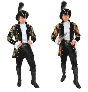 FRENCH PIRATE RENAISSANCE PRINCE COLONIAL CAPTAIN COSTUME COAT JACKET CARIBBEAN