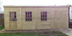 20x10-19mm-Tanalised-PENT-034-DELUXE-HEAVY-DUTY-034-Summerhouse-Workshop-shed