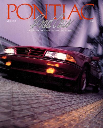 FIREBIRD-TRANS AM GTA-FlERO-GRAND PRIX 2+2-NASCAR 1988 PONTIAC DELUXE BROCHURE