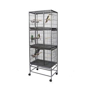 Kookaburra Bouleau Perroquet Oiseau Budgie Avairy Cage Wire 3 Couche Reproduction 5060115201636