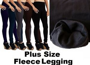 228ad992043aa6 Womens Warm Fleece lined Thick Fur Winter PLUS SIZE Legging TX300X ...