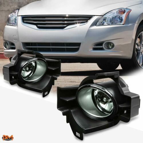 For 10-12 Altima 4-Dr OE Style Smoked Lens Bumper Fog Light//Lamp W//Switch+Bulb